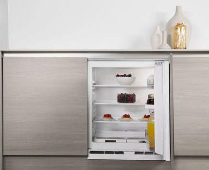 Built-in Whirlpool refrigerator