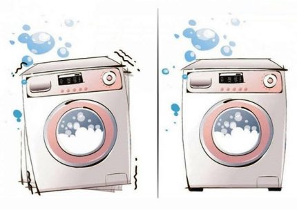 Defective washing machine
