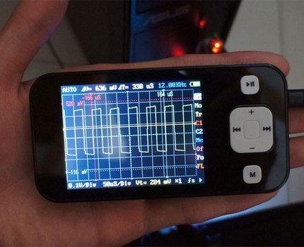 Oscilloscope to test ballast performance
