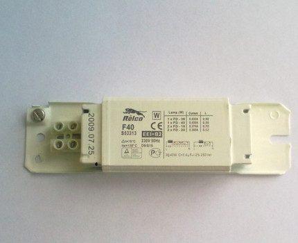 Ballast marked IP2