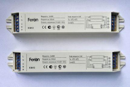 Electronic ballasts Feron