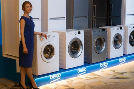Presentation of new models of washing machines