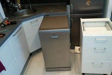 Narrow model dishwasher