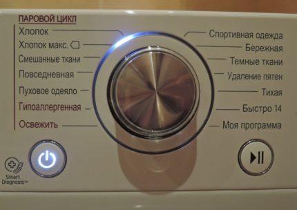 Test mode of the washing machine