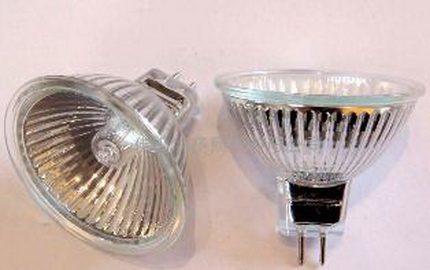 Directional halogen lamp