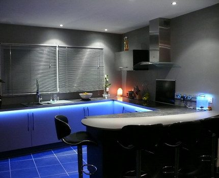 Accent lighting in the kitchen