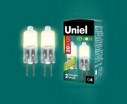 Halogen capsule lamps