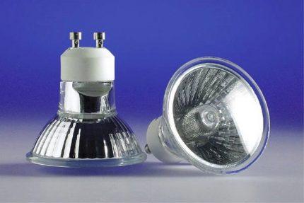 Halogen reflector lamps