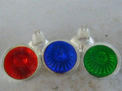 Multi-colored halogen lamps