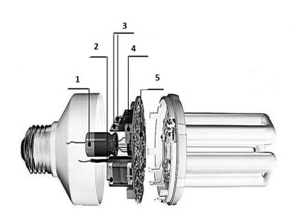 Elements of a discharge lamp