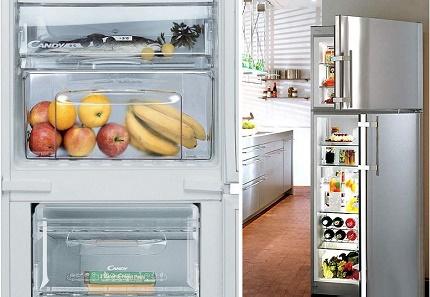 Ergonomic refrigerators of the brand Candy