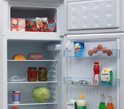 Internal arrangement of refrigerators Don