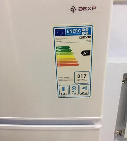 Energy class of refrigeration units Deksp