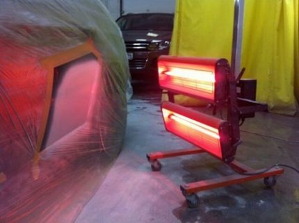 Infrared drying