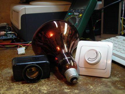 Infrared lamp with regulator