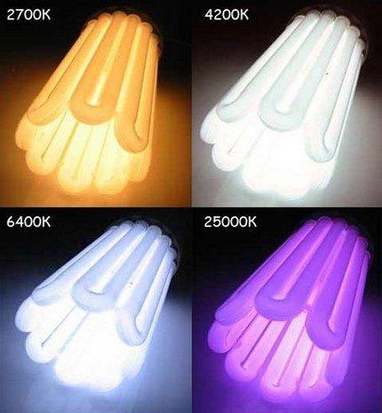 Température de couleur de l'ampoule