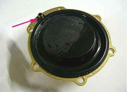 Membrane control pin
