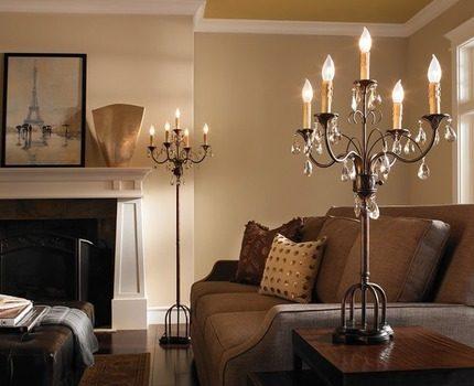 Feron lamps in the interior
