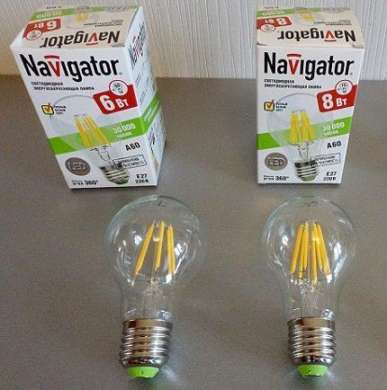 LED lemputės E27 Navigator