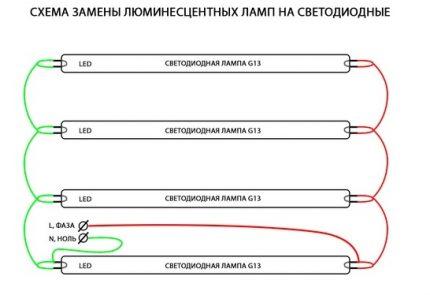 LED lamp connection diagram