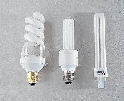 Varieties of compact fluorescent lamps