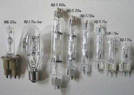 Varieties of metal halide lamps