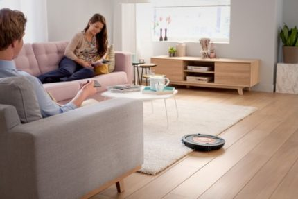 Silent operation of the robot cleaner
