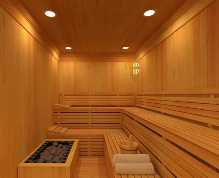 LED lighting in the sauna