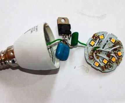 Light bulb circuit board