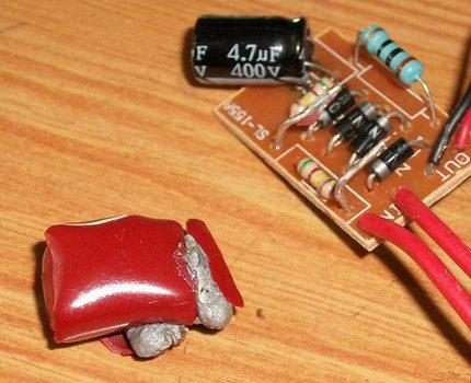 Swollen capacitor