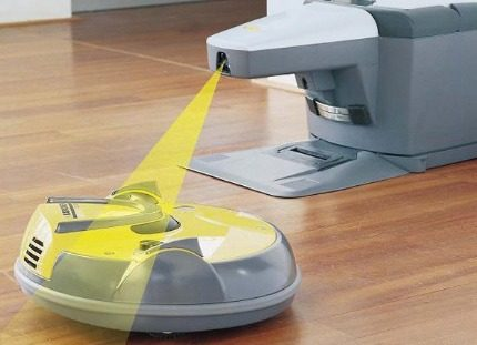 Charging base for robot vacuum cleaner