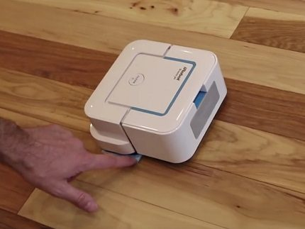 Robot without a waste bin