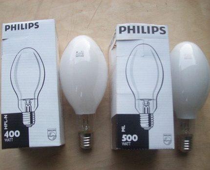 Philips mercury lamps