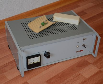 Power supply for DRSh lamps