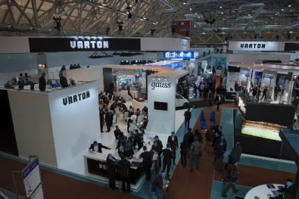 Warton at the exhibition of LED products