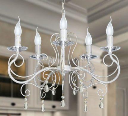 Gauss lamps in the chandelier