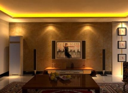 LED strip in the interior
