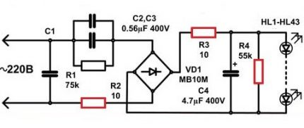 LED Lamp Driver Schematic