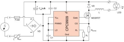 Controller circuit with CPC9909
