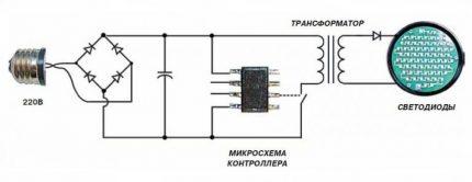 LED bridge circuit