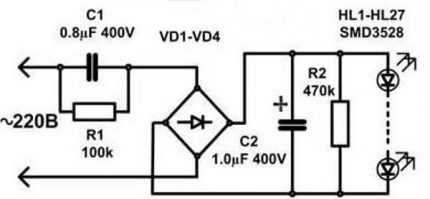 Driver diagram for LED lamp