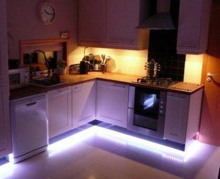 LED strip on furniture