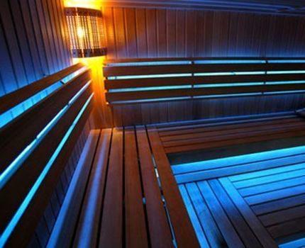 LED strip in the bath