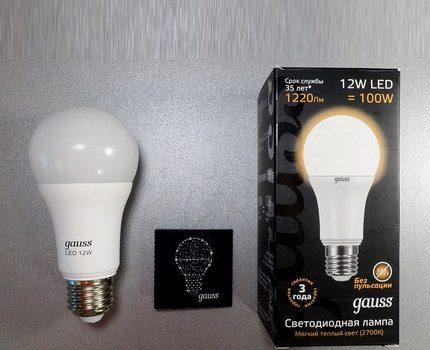 """LED lemputės """"Gauss E27"""""""