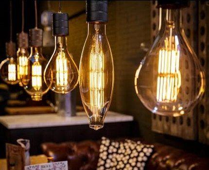Kaitinamosios LED lempos interjere