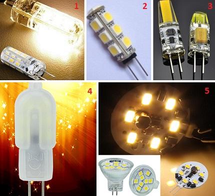 G4 lamp shapes