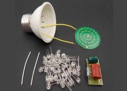 LED lamp components