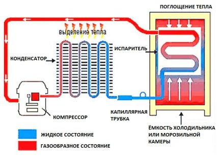 The scheme of the refrigerator