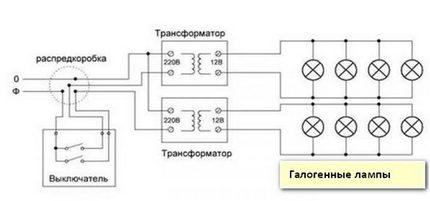 Halogen lamp connection diagram