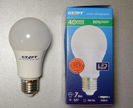 Lampe LED avec douille E27